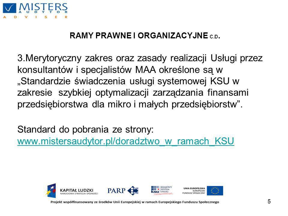 5 RAMY PRAWNE I ORGANIZACYJNE C.D.