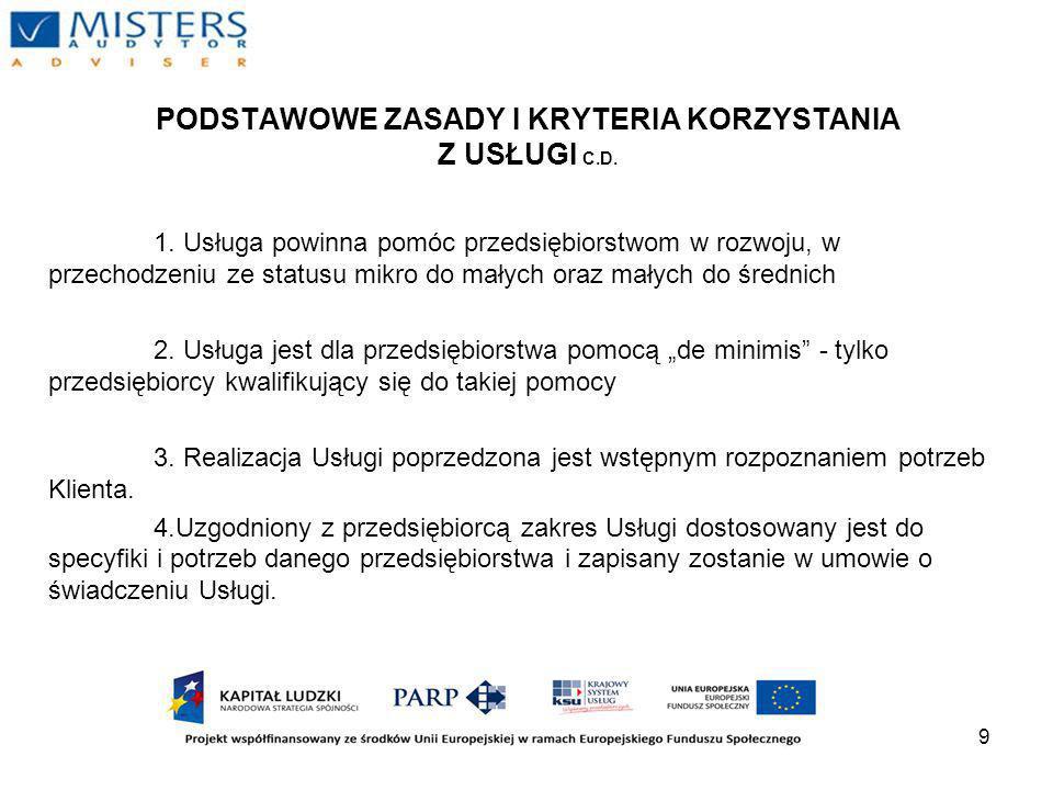 20 ZAKOŃCZENIE I ETAPU Efektem I Etapu jest: - raport - protokół odbioru usługi - poświadczenie należytego wykonania usługi