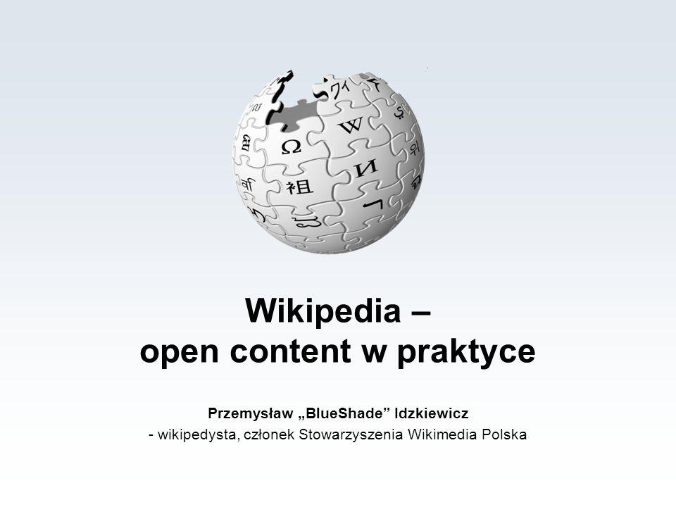 Wikipedia - open content w praktyce Społeczność Wikipedii bardzo szeroki zakres osobowości, zainteresowań, zachowań typy osobowości w Wikipedii: mrówki kultywatorzy społeczności policjanci, tropiciele wandalizmu organizatorzy sprzątacze szukający konfliktu wandale trolle
