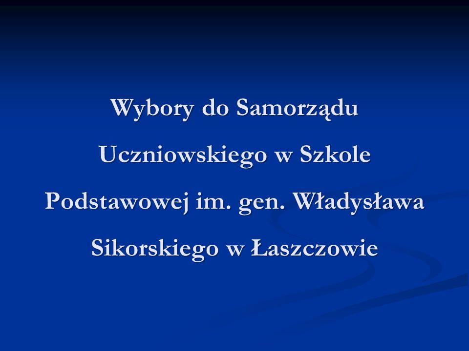 Wybory do Samorządu Uczniowskiego w Szkole Podstawowej im. gen. Władysława Sikorskiego w Łaszczowie