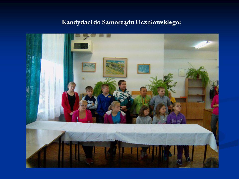 Kandydaci do Samorządu Uczniowskiego: