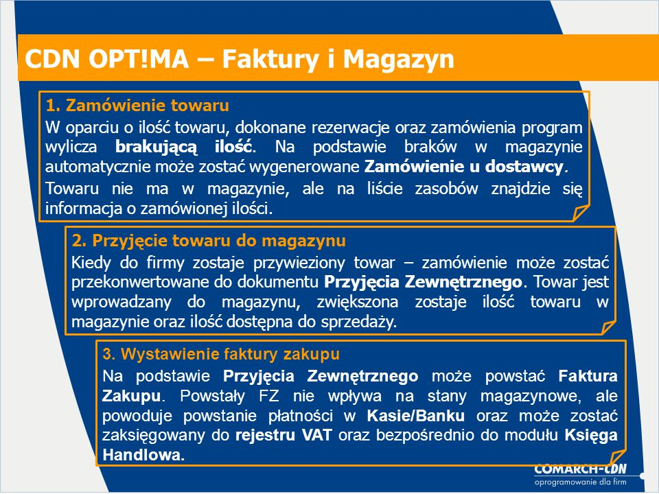 CDN OPT!MA – Faktury i Magazyn 1.