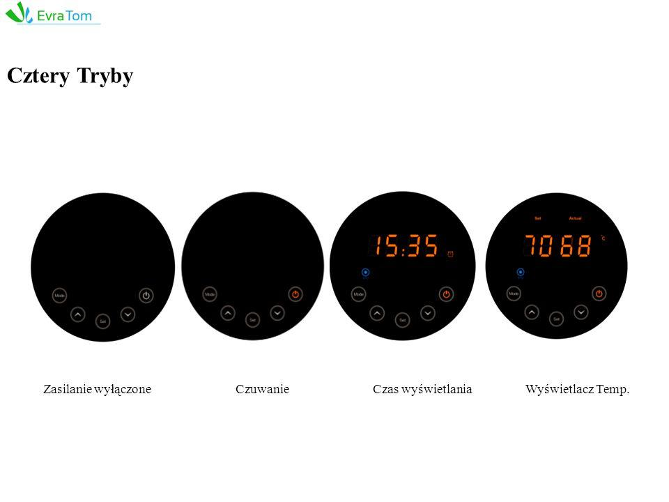 Cztery Tryby CzuwanieCzas wyświetlaniaWyświetlacz Temp.Zasilanie wyłączone