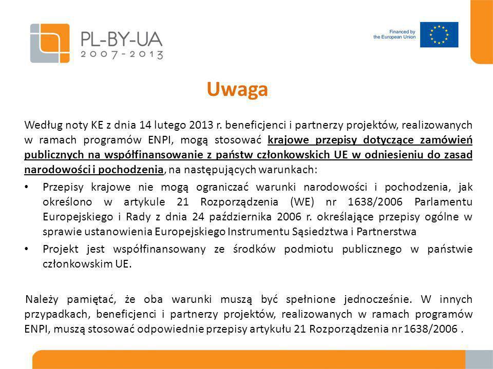 """Kluczowe punkty  Procedury zamówienia są określone w Załączniku IV """"Przetargi ogłaszane przez Beneficjentów dofinansowania w odniesieniu do działań zewnętrznych UE do umowy grantowej;  Załącznik IV stosuje się do wszystkich Beneficjentów oraz partnerów bez względu na ich status prawny (publiczny czy prywatny)  W stosunku do tego, co NIE JEST opisane w Załączniku IV (szczegółowe procedury, dokumentacja przetargowa) można stosować:  własne procedury partnera, o ile są zgodne z najlepszymi międzynarodowymi praktykami lub  Rozdziały 3 (Usługi), 4 (Dostawy), 5 (Roboty) PRAG oraz odpowiednich szablonów dostosowanych do przepisów Załącznika IV"""