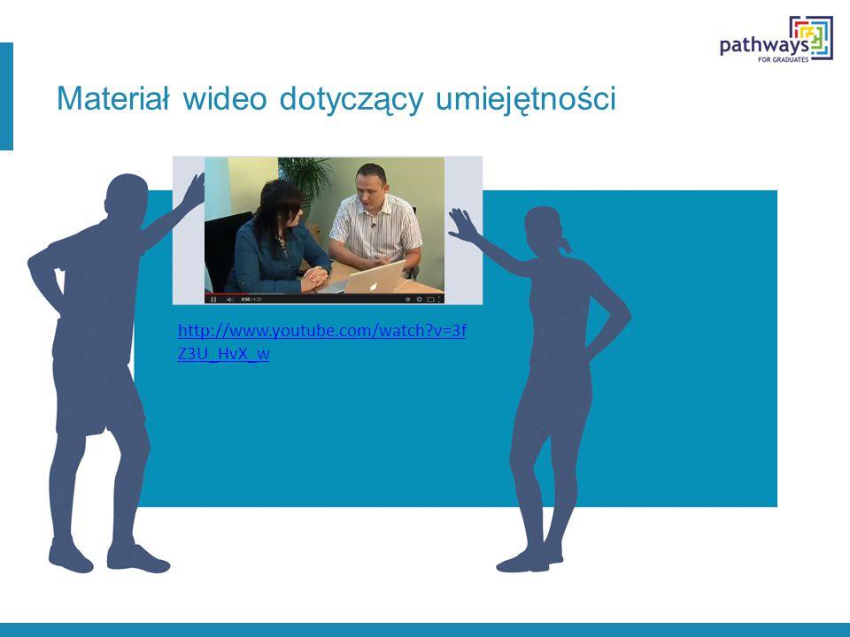 Materiał wideo dotyczący umiejętności http://www.youtube.com/watch v=3f Z3U_HvX_w