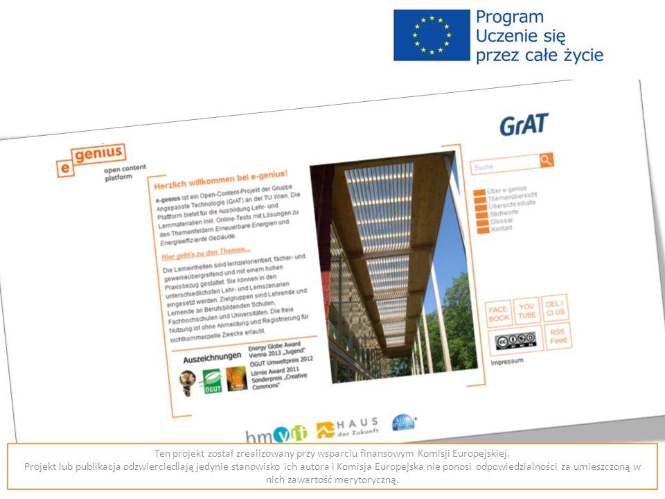 Ten projekt został zrealizowany przy wsparciu finansowym Komisji Europejskiej.
