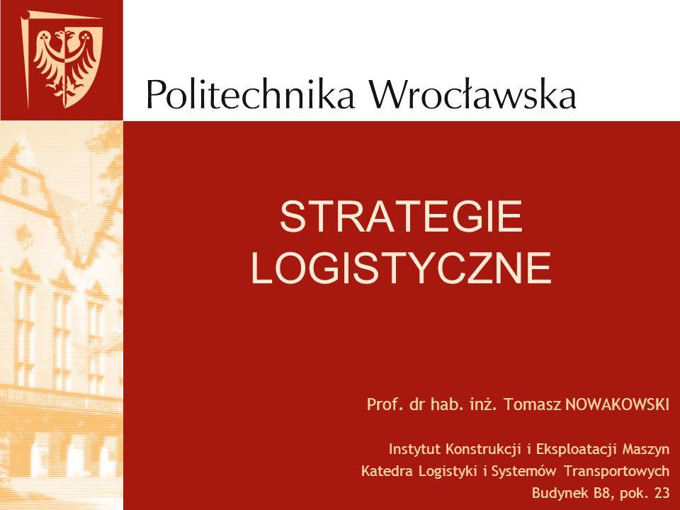 Strategie logistyczne Istota, rola i miejsce strategii logistycznych w przedsiębiorstwie Strategiczne decyzje w sferze logistyki obejmują w głównej mierze kształtowanie zintegrowanych struktur logistycznych w przedsiębiorstwie.