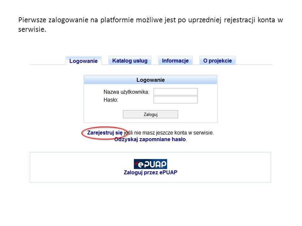 Gotowy do wysyłki formularz oznaczony jest ikoną z kluczykiem Wysyłki dokonujemy poprzez wybór ikony w kolumnie Operacje.