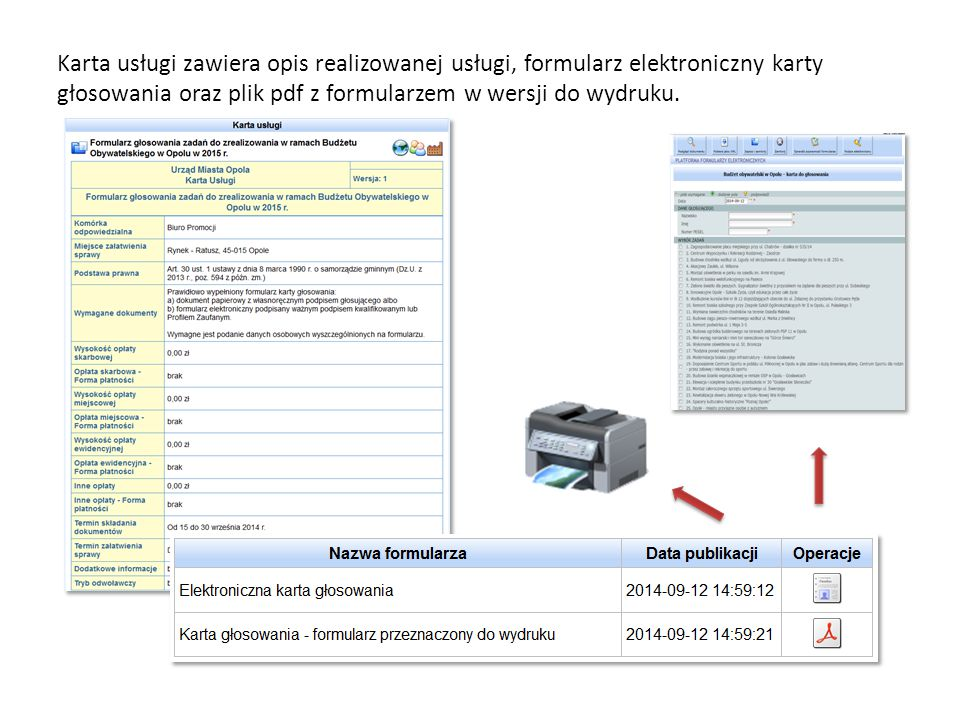Formularz elektroniczny składa się z paska menu oraz dwóch sekcji: 1.Sekcja danych osobowych głosującego (pola wymagane do uzupełnienia) 2.Sekcja wyboru zadań (minimum jedno, nie więcej niż trzy) Wypełnienie formularza