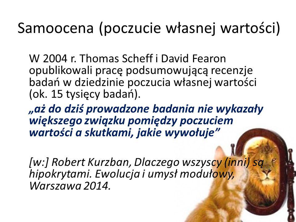Samoocena (poczucie własnej wartości) W 2004 r.