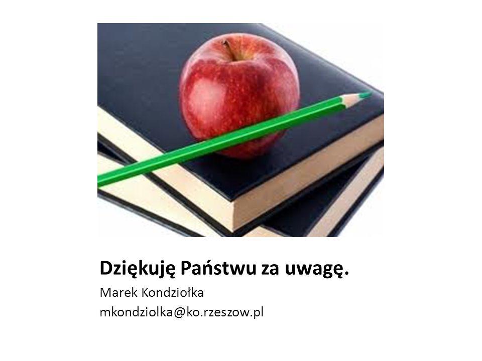 Dziękuję Państwu za uwagę. Marek Kondziołka mkondziolka@ko.rzeszow.pl