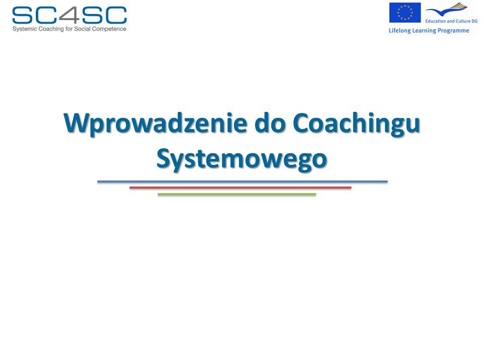 Coaching i inne zawody Różnice Rozwój organizacji stawia organizację w centrum procesu.