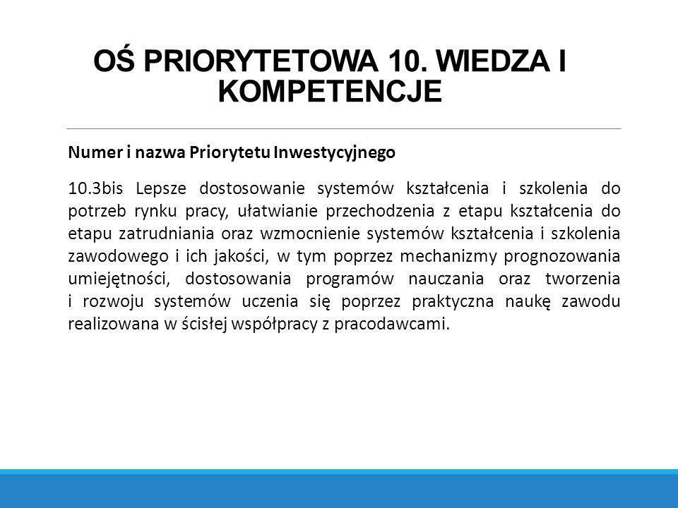 OŚ PRIORYTETOWA 10.