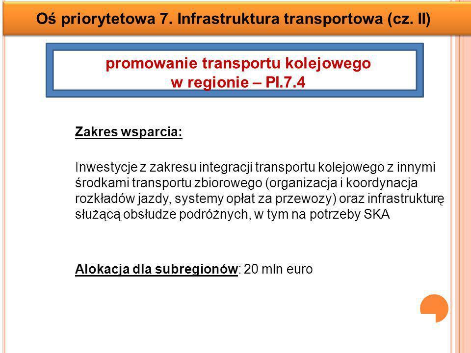 Oś priorytetowa 7.Infrastruktura transportowa (cz.