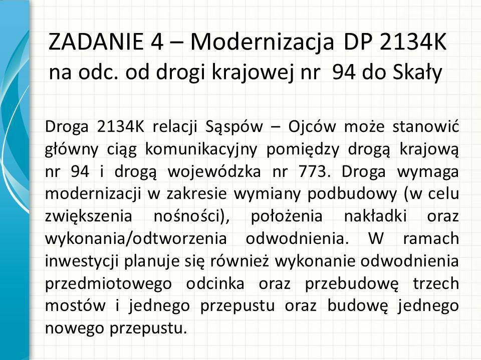 ZADANIE 4 – Modernizacja DP 2134K na odc.