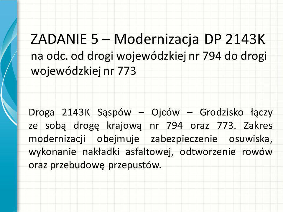 ZADANIE 5 – Modernizacja DP 2143K na odc.
