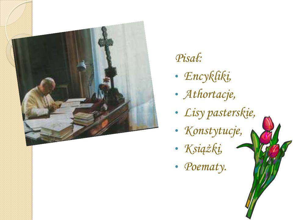 Pisał: Encykliki, Athortacje, Lisy pasterskie, Konstytucje, Książki, Poematy.