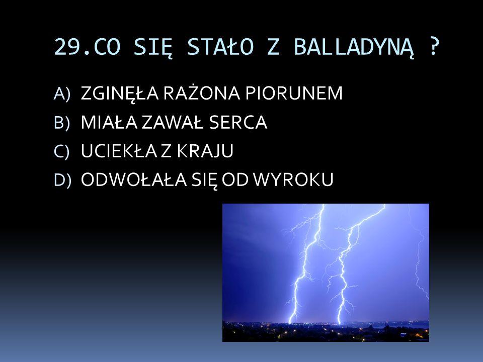 29.CO SIĘ STAŁO Z BALLADYNĄ .