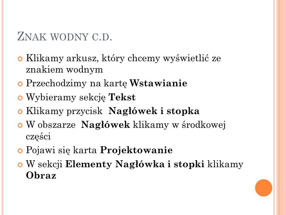 Z NAK WODNY C.D.