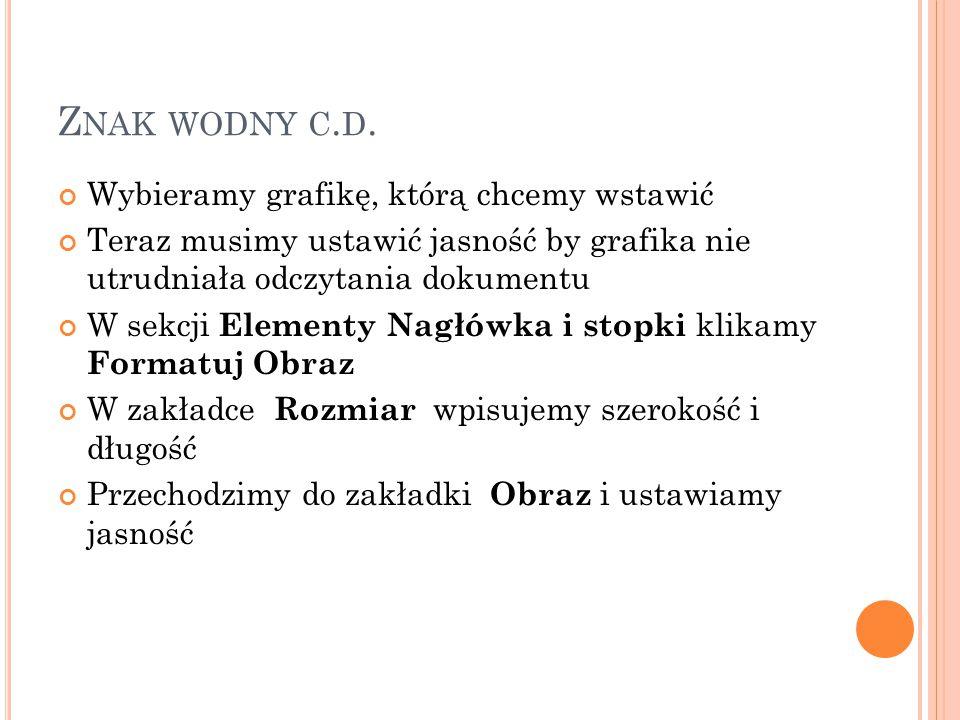Z NAK WODNY C. D.