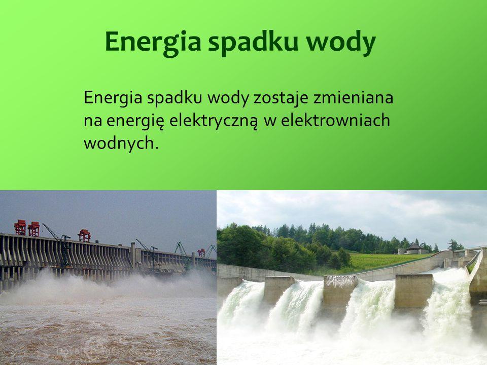 Zalety i wady energii spadku wody Zalety: Nie produkują odpadków.