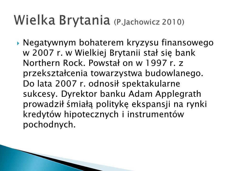  Negatywnym bohaterem kryzysu finansowego w 2007 r.