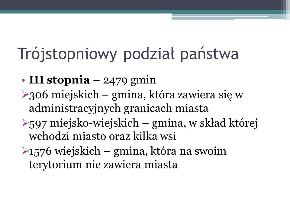 Gmina – organy i kompetencje Gmina – wg ustawy należy przez nią rozumieć wspólnotę samorządową oraz odpowiednie terytorium Od 1990 roku w Polsce gmina jest podstawową jednostką samorządu terytorialnego Posiada osobowość prawną, a jej samodzielność podlega ochronie sądowej.