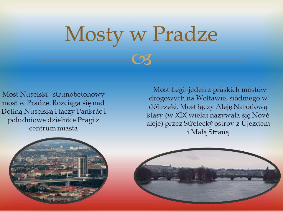  Mosty w Pradze Most Karola-most na Wełtawie w Pradze czeskiej łączący dzielnice Malá Strana i Staré Město, będący jedną z najsłynniejszych i najczęś