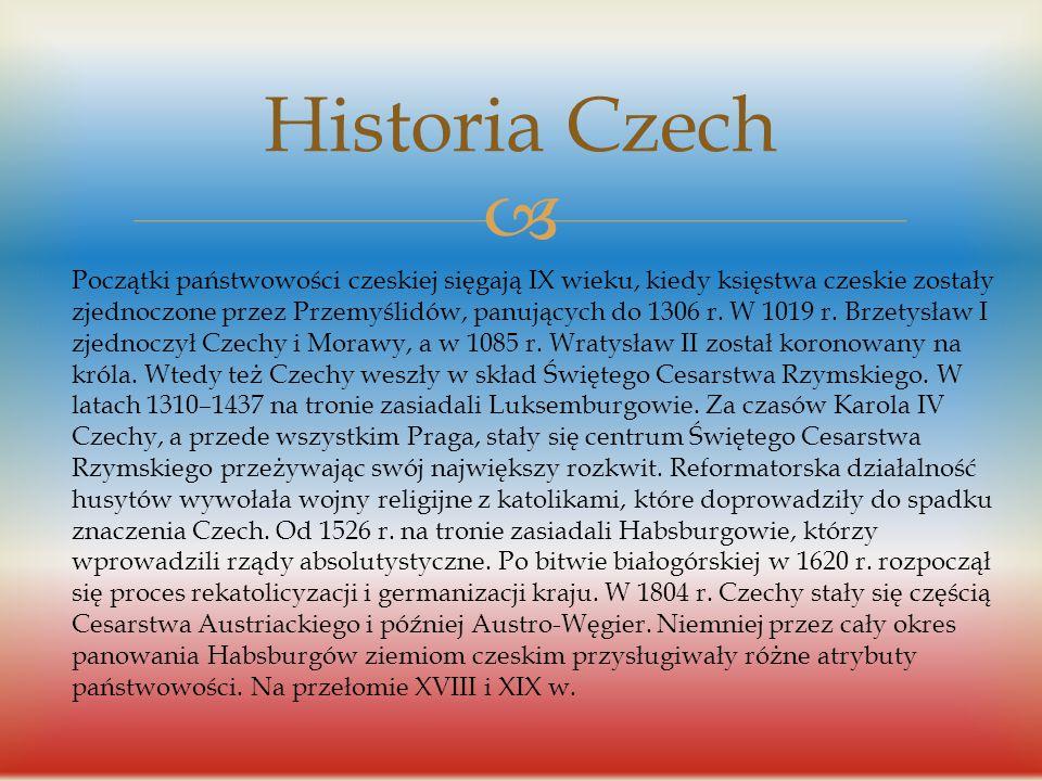  Historia flagi Tradycyjnymi barwami Czech, pochodzącymi od herbu ustanowionego w 1192 roku (w polu czerwonym wspięty lew o podwójnym srebrnym ogonie