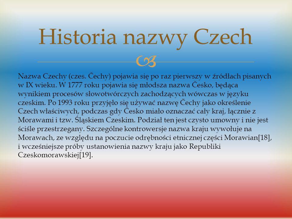  Historia Czech Początki państwowości czeskiej sięgają IX wieku, kiedy księstwa czeskie zostały zjednoczone przez Przemyślidów, panujących do 1306 r.