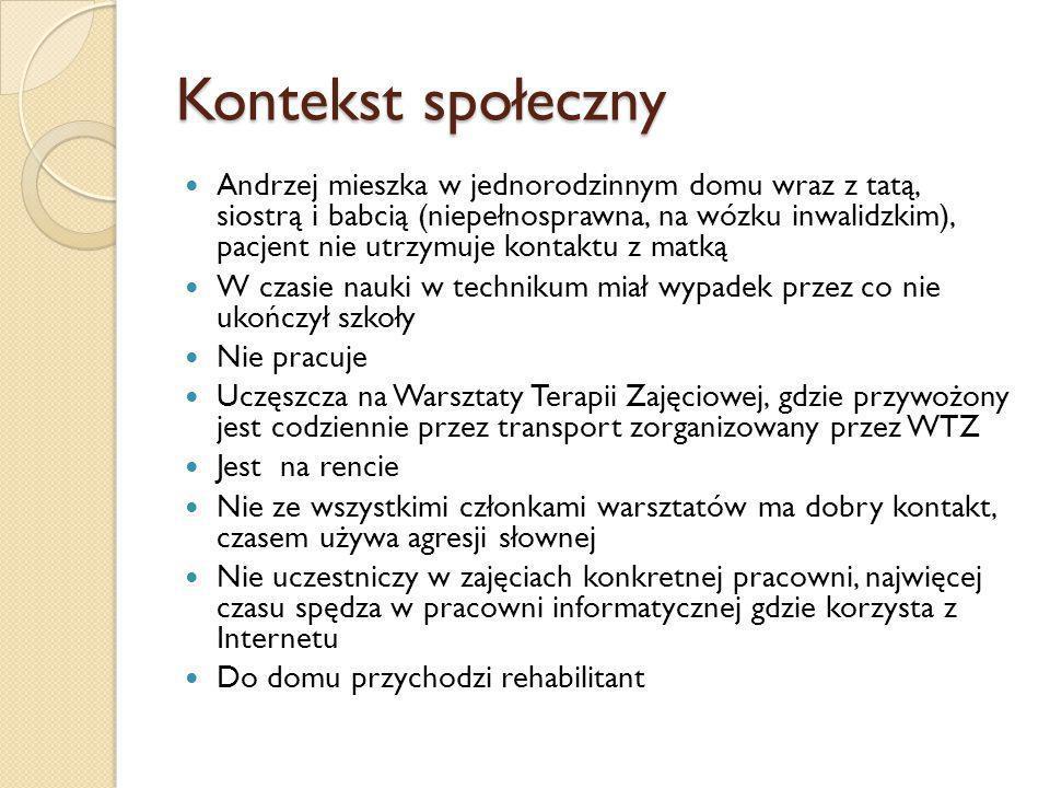 Spotkanie 3 Zabranie Andrzeja do wybranych przez nas ośrodków na rozmowę z kierownikiem.