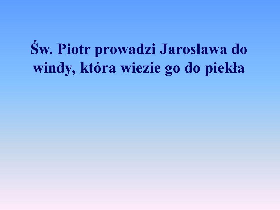 """- """"Nie rozumiem – bełkotał Kaczyński w stanie szoku – gdy byłem tu wczoraj, było pole golfowe i pawilon klubowy."""