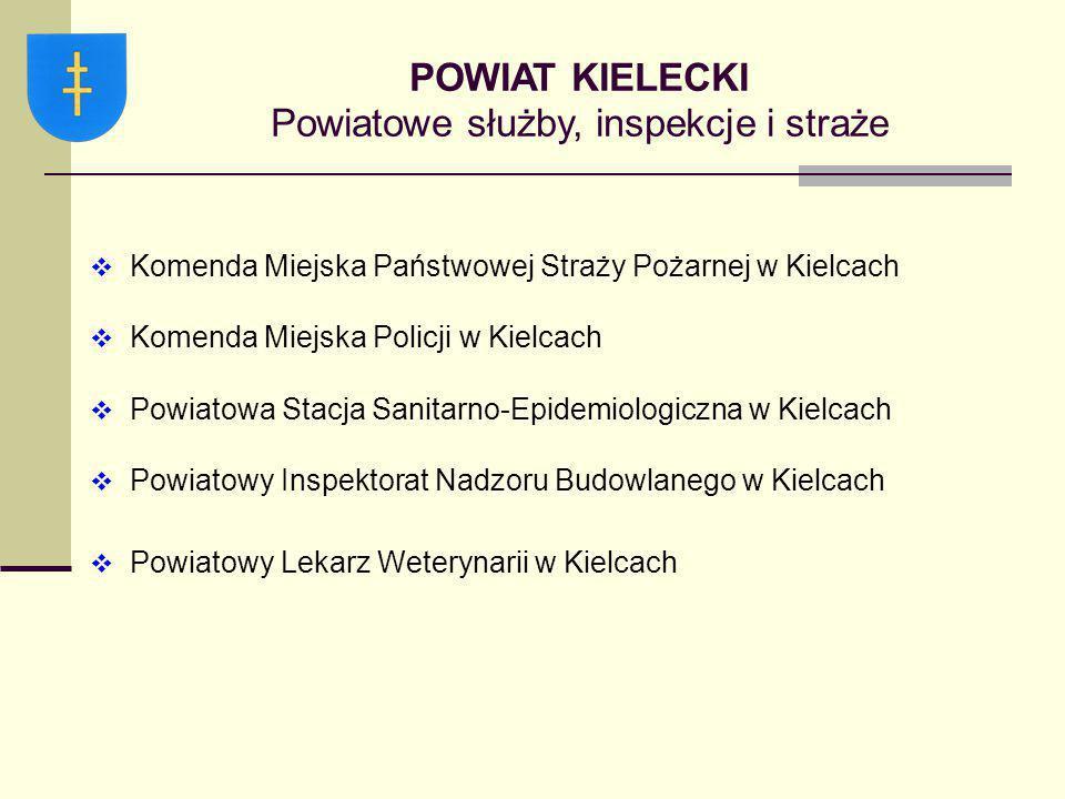  Komenda Miejska Państwowej Straży Pożarnej w Kielcach  Komenda Miejska Policji w Kielcach  Powiatowa Stacja Sanitarno-Epidemiologiczna w Kielcach