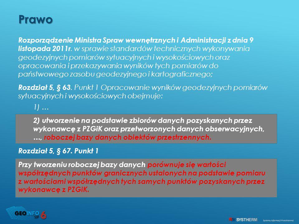 Rozporządzenie Ministra Spraw wewnętrznych i Administracji z dnia 9 listopada 2011r. w sprawie standardów technicznych wykonywania geodezyjnych pomiar