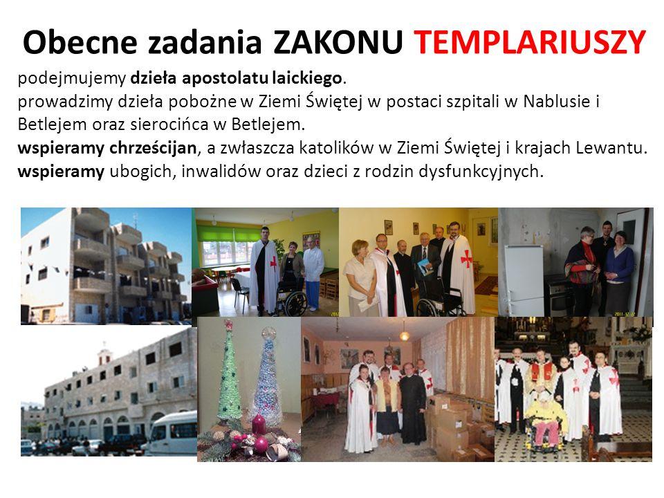podejmujemy dzieła apostolatu laickiego. prowadzimy dzieła pobożne w Ziemi Świętej w postaci szpitali w Nablusie i Betlejem oraz sierocińca w Betlejem