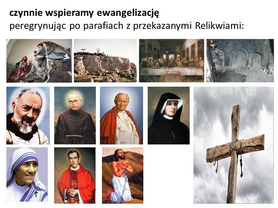 czynnie wspieramy ewangelizację peregrynując po parafiach z przekazanymi Relikwiami: