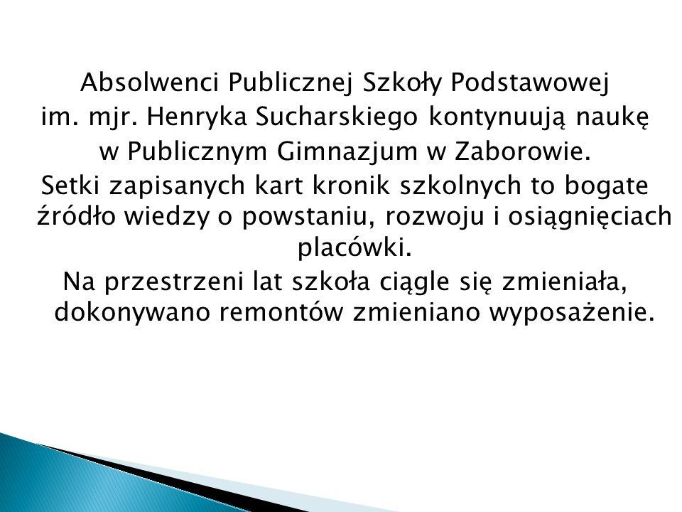 Absolwenci Publicznej Szkoły Podstawowej im. mjr.