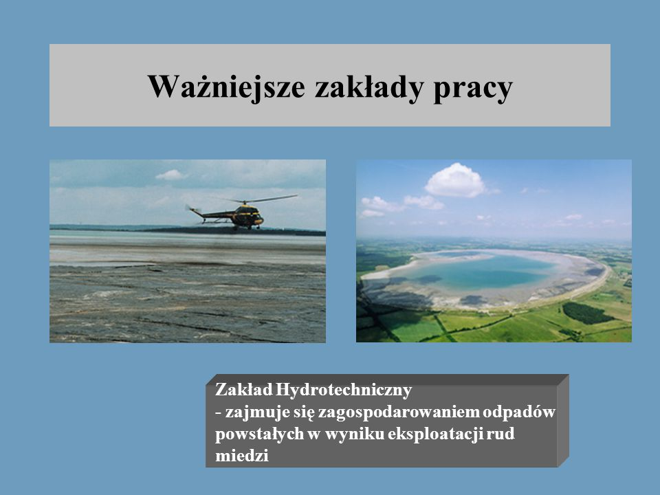 """Ważniejsze zakłady pracy Zakłady Górnicze """"Rudna"""""""