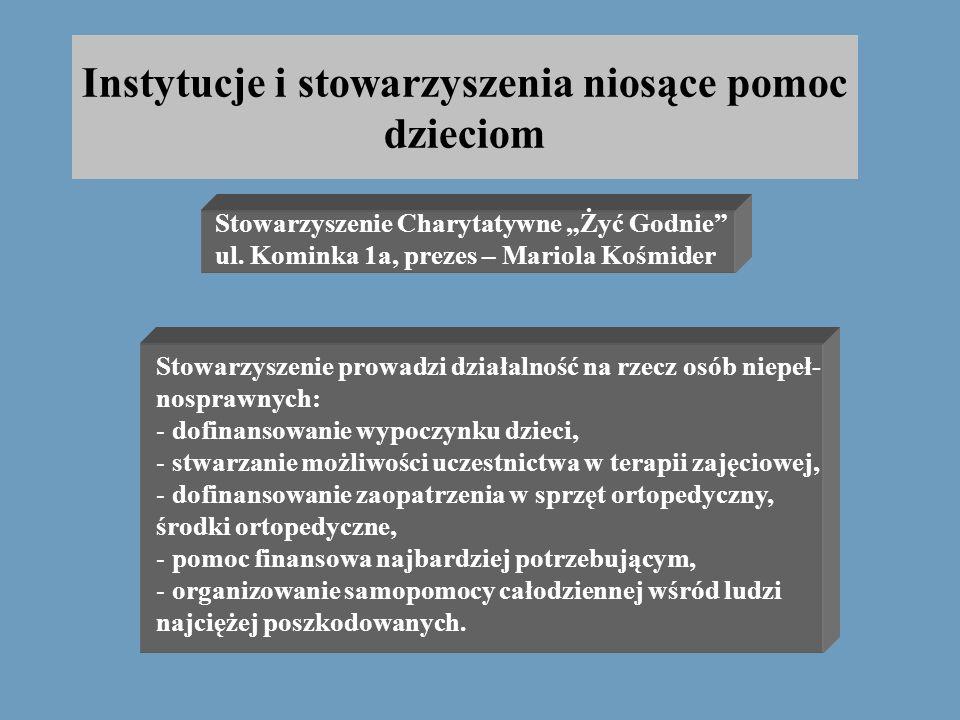 Instytucje i stowarzyszenia niosące pomoc dzieciom Ośrodek Pomocy Psychologicznej przy Polkowickim Centrum Usług Zdrowotnych