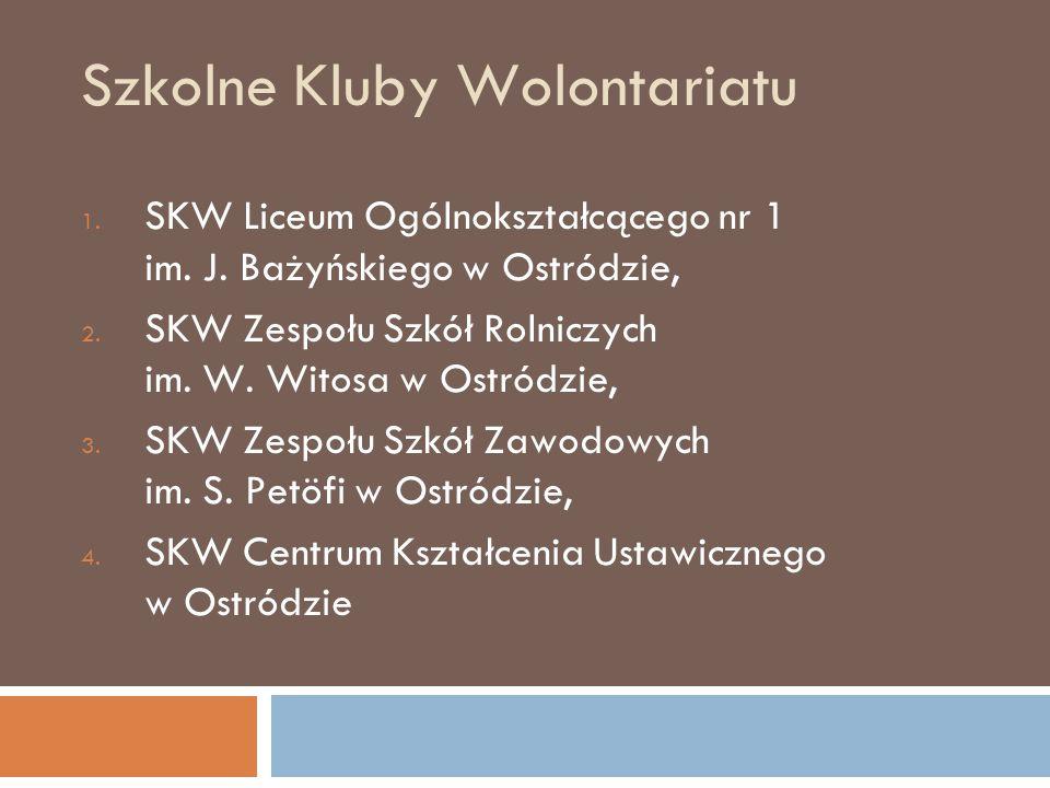 Szkolne Kluby Wolontariatu 1.SKW Liceum Ogólnokształcącego nr 1 im.