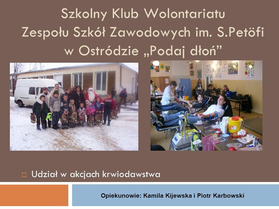 Szkolny Klub Wolontariatu Zespołu Szkół Zawodowych im.
