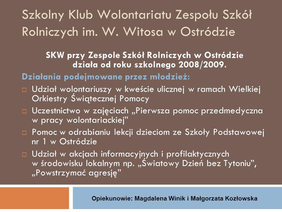 """""""Klub Ośmiu Internat przy Zespole Szkół Zawodowych im."""