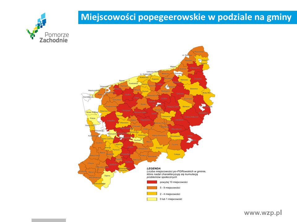 www.wzp.p l Miejscowości popegeerowskie w podziale na gminy