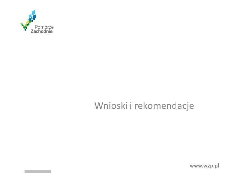 www.wzp.p l Wnioski i rekomendacje