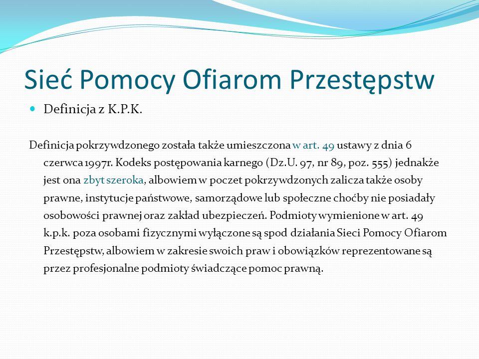 Sieć Pomocy Ofiarom Przestępstw Definicja z K.P.K.