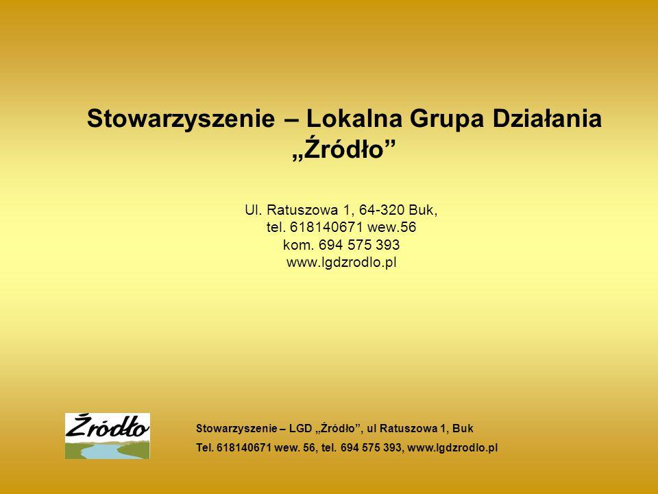 """Stowarzyszenie – Lokalna Grupa Działania """"Źródło Ul."""