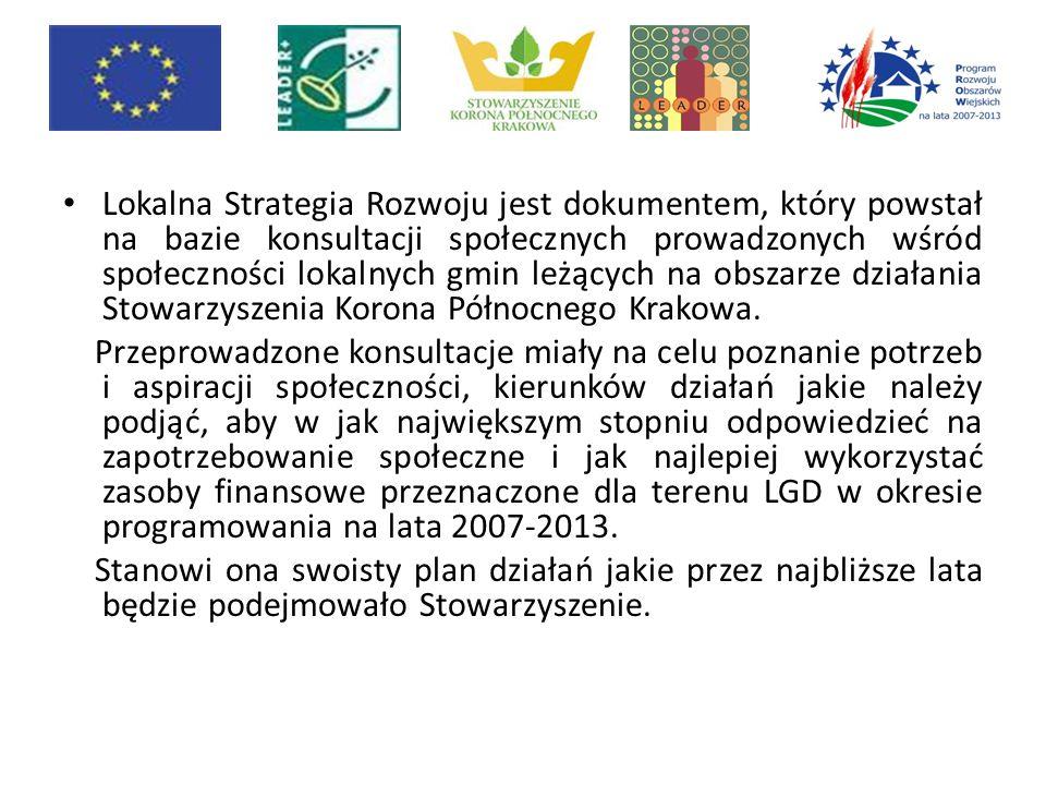 Lokalna Strategia Rozwoju jest dokumentem, który powstał na bazie konsultacji społecznych prowadzonych wśród społeczności lokalnych gmin leżących na o