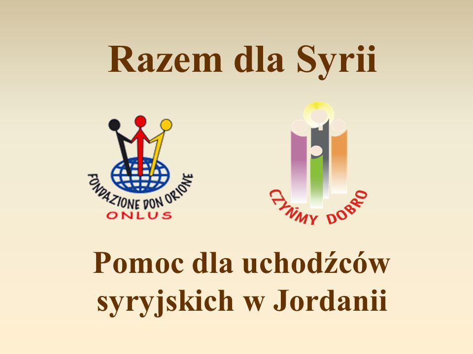 Razem dla Syrii Pomoc dla uchodźców syryjskich w Jordanii