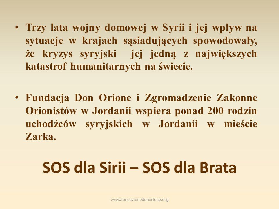 SOS dla Sirii – SOS dla Brata Trzy lata wojny domowej w Syrii i jej wpływ na sytuacje w krajach sąsiadujących spowodowały, że kryzys syryjski jej jedną z największych katastrof humanitarnych na świecie.