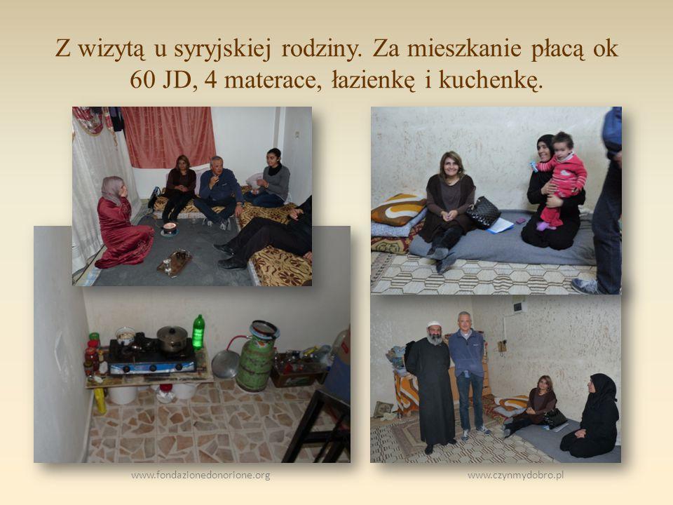 www.fondazionedonorione.org www.czynmydobro.pl Z wizytą u syryjskiej rodziny.